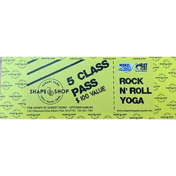 Shape Shop 5 Class Pass