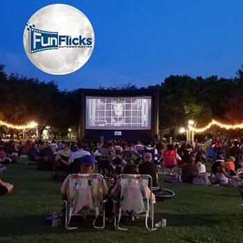 Fun Flicks Outdoor Movies - Half Price Screen Rental