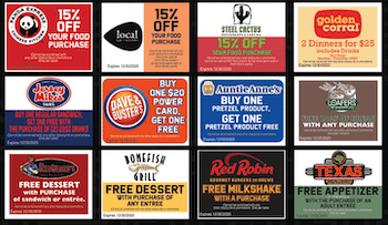 80+ Location Coupon Card!