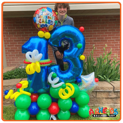 Marquee Party Customized Balloon Gift from Airheads Balloon Art!