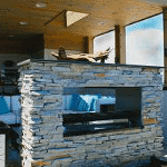 Today's Home & Leisure - Keywest See-Through Fireplace with Stucco Finish