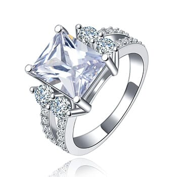 Princess Cut Ring 18k Gold Plated with Cubic Zirconia - $31.88 with FREE Shipping!