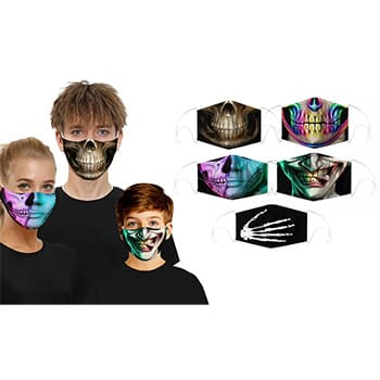 3D Halloween Themed Scary Faces Reusable Face Masks - $9.99 with FREE Shipping!