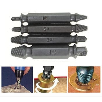 Double-Sided Damaged Screw Extractors Set With Case (4-Piece) -  $12.99 with FREE Shipping!