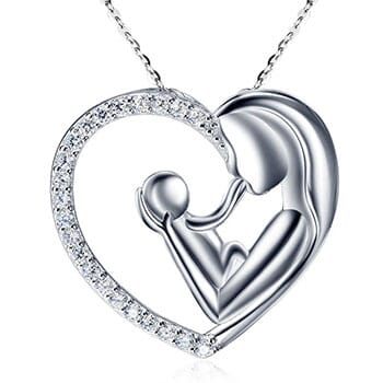 Crystal Mother Child Necklace - $25.50 with FREE Shipping!