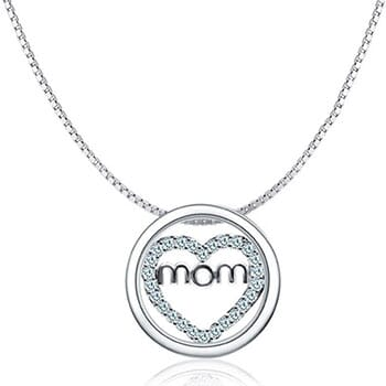 Mom Heart Circle Of Love Necklace - $25.50 with FREE Shipping!