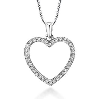 Dainty Crystal Heart Necklace - $24.38 with FREE Shipping!