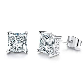 Princess Cut Stud Earrings - $25.13 with FREE Shipping!