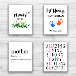 Mother's Day Wall Decor (Set of 4) - Unframed - 8x10s 85105