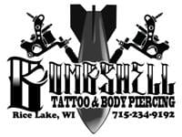 Bombshell Tattoo and Body Piercing: 1/2 $100 CERTIFICATE