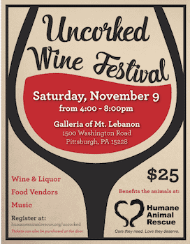 Uncorked Wine Festival Benefitting Humane Animal Rescue!