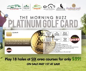 The Morning Buzz Platinum Golf Card -- Price Reduced to $50!