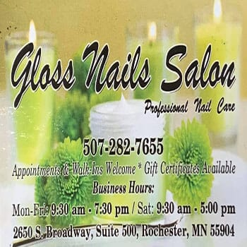 Gloss Nails Salon-$20 Certificate