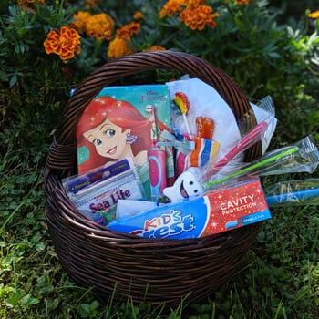 Knowlton Dental Associates - Girls Electric Toothbrush Gift Basket Set