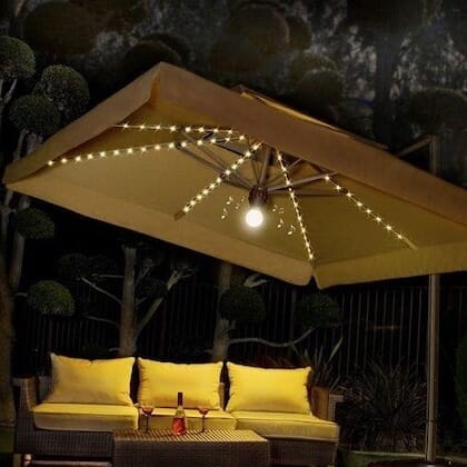 10x10 Lighted Umbrella from Summer Accents!