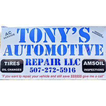 Tony's Automotive Repair-$25 Service Certificate