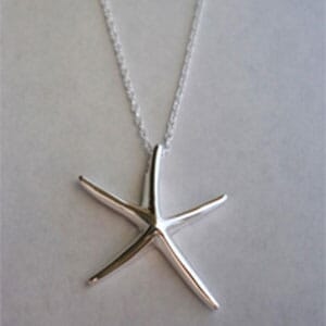 Edmon Starfish 925 Sterling Silver Plated Necklace - $16 with FREE Shipping!