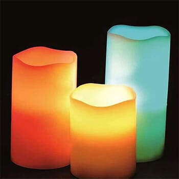 3 Pcs : Remote Controlled Flameless Color  with FREE Shipping!