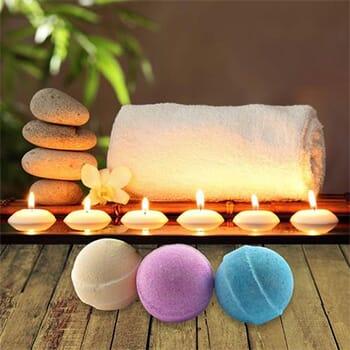 Organic Handmade Bath Bombs (6-Piece Set) - $19.99 with FREE Shipping!