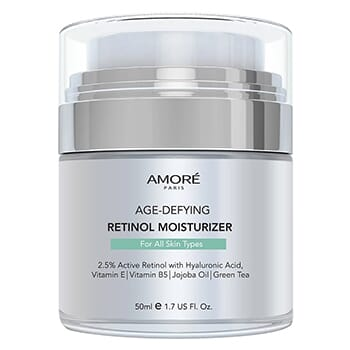 AMORÉ PARIS Retinol 2.5% High Potency Anti-Aging Moisturizer (1.7 Fl. Oz.) - $17.99 with FREE Shipping!