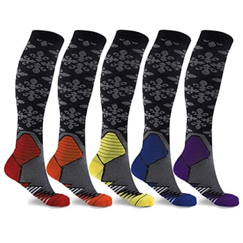 5-Pairs: Formal Wear Unisex Compression Socks - $17.99 with FREE Shipping!