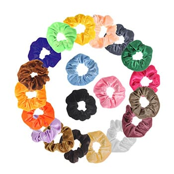 Premium Velvet Elastic Hair Scrunchies (20-Pack) - $19.99 with FREE Shipping!