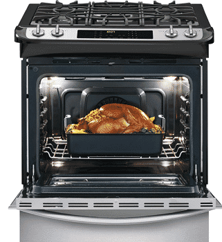 Eminent Services LLC: 1/2 OFF 4.6 cu. ft. Slide-In Dual Fuel Range in Smudge-Proof Stainless Steel