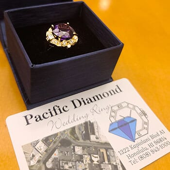 Half Price - 18K Gold • Amethyst • Diamond Ring