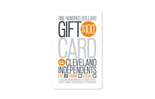 $100 Cleveland Independents Printable Certificate