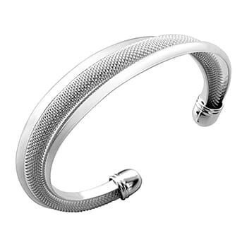 Mandy Bracelet Sterling Silver Plated Textured Cuff - $19.00 with FREE Shipping!