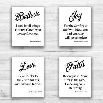 Religious Quotes Wall Art - 8  x 10  Frame Ready Prints-1