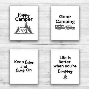 Camping Wall Prints - 8  x 10  Frame Ready Prints-1