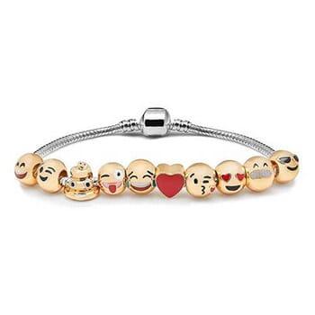 10-Beads Emoji Charm Bracelets - $12.99 with FREE Shipping!-1