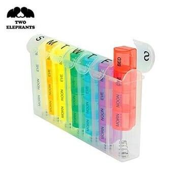 Two Elephants™ Pill Organizer with Divided Compartments - $11.99 with FREE shipping!
