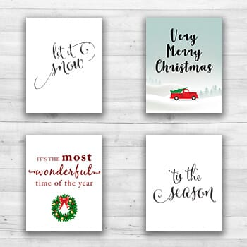 Holiday Wall Prints - 8  x 10  Frame Ready Prints