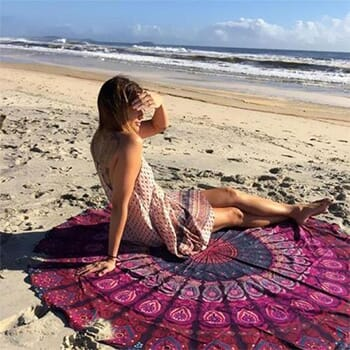 Round Chiffon Aztec Print Beach Throw - $12.99 With FREE Shipping-1