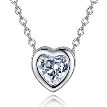 Open Heart Crystal Pendant Necklace With Free Shipping!