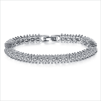 Jasmine Princess-Cut Silver Tennis Bracelet With FREE Shipping!