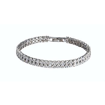 Simulated Diamond Tennis Bracelet With FREE Shipping!