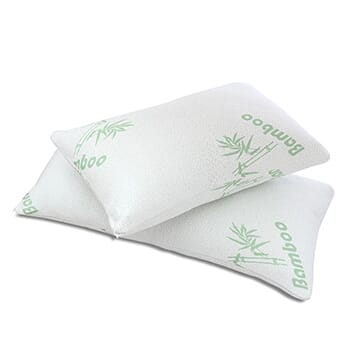 Queen 2 Pack Bamboo Memory Foam Hypoallergenic Pillow with FREE Shipping!-1