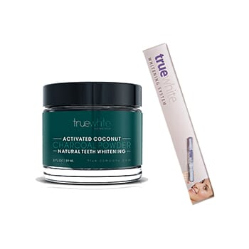 Truewhite Activated Coconut Charcoal Powder with 1 Whitening Pen - $21.50 with FREE Shipping!