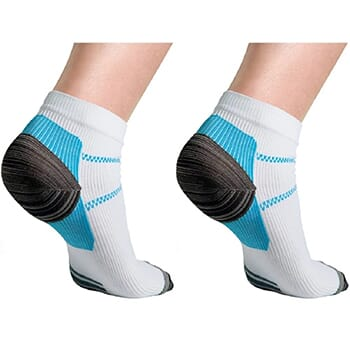 6 Pack : Unisex Compression Socks for Plantar Fasciitis - $14.99 with FREE Shipping!