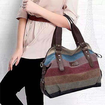 Canvas Shoulder Bag -$19.99 with FREE Shipping!-1