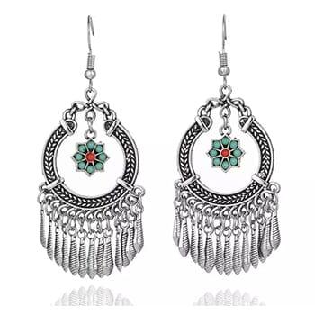 Boho Vintage Indian Flower Tassel Dangle Earrings With FREE Shipping!