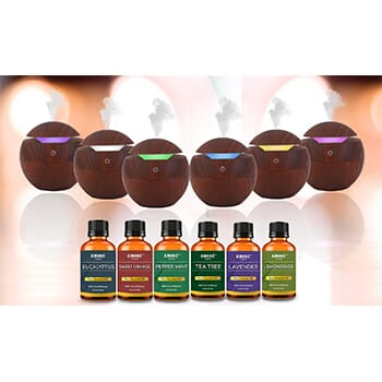 Ultrasonic Cool Mist Wood-Look Aroma Diffuser with Essential Oils (7-Piece) - $24.99 with FREE Shipping!-1
