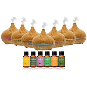 Stylish Ultrasonic Essential Oil Diffuser with Essential Oils (7-Pack) - 39.99 with FREE Shipping!-1