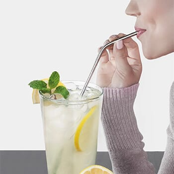 Collapsible, Portable, and Reusable Stainless Steel Drinking Straw with Case - $11.99 with FREE Shipping!-2