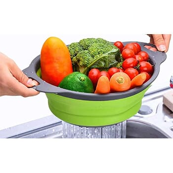 3-in-1 Collapsible Strainer, Salad Bowl (2-Pack) - $19.99 with FREE Shipping!