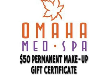 Omaha Med Spa Cyber Monday - $50 Gift Certificate Towards Permanent Makeup-Up Service