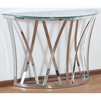 Glass & Chrome Console Table!